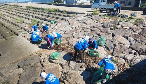 護岸清掃活動