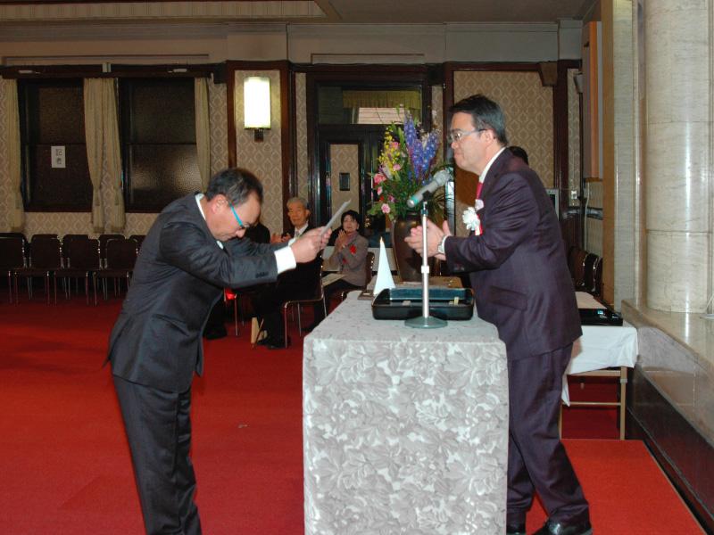 平成27年2月15日 愛知県大村知事より認定書授与