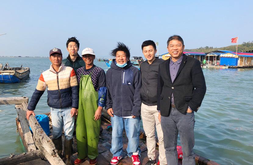 中国にてアナアオサ現地調査