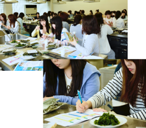 愛知県みずほ短期大学部 食物栄養専攻「2016年度」1年次生さん